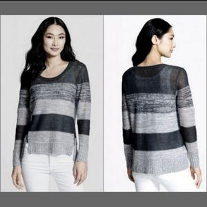 Eileen Fisher Ash Striped Scoop Neck Sweater